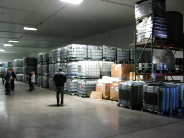 Cerule cold storage with enough frozen AFA to produce 3,000,000 bottles of StemEnhance Ultra