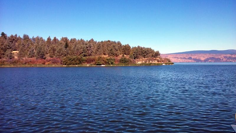 Squaw point on Lake Klamath, Oregon