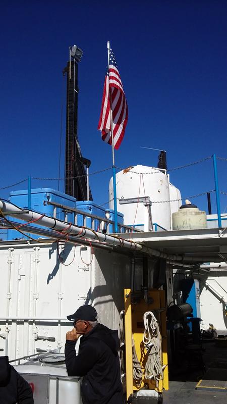 Cerule AFA harvesting equipment at Squaw point on Lake Klamath, Oregon
